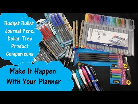 Budget Bullet Journal Pens - Dollar Tree Product Comparisons