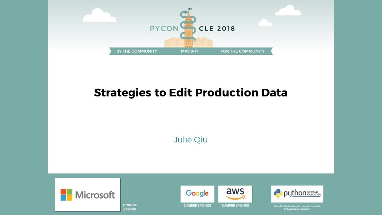 Image from Strategies to Edit Production Data