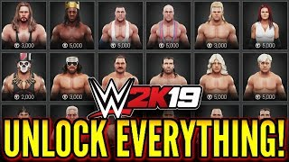 WWE 2K19 - How To Unlock Everything! (#WWE2K19 Tutorial)