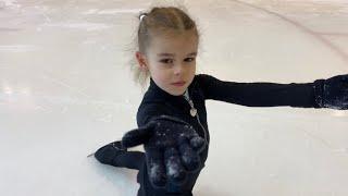Лебедева Мирослава 6 лет! Красивое скольжение! Хорошие прыжки! Фигурное катание! Miroslava Lebedeva