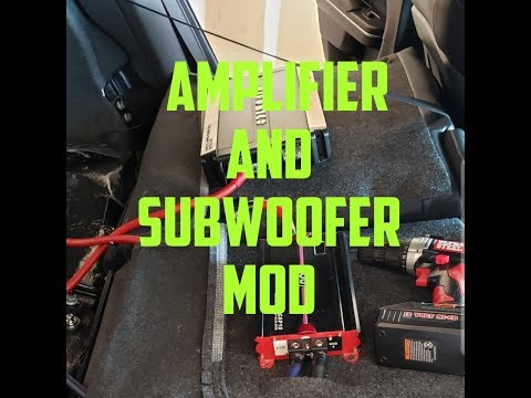 HOW TO INSTALL AFTERMARKET AMPLIFIER AND SUBWOOFER IN A DODGE CHARGER