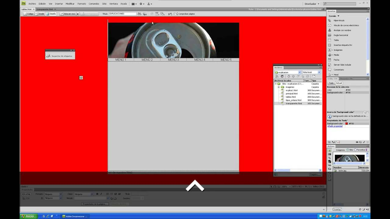 18 Crear iframe transparente en dreamweaver - YouTube