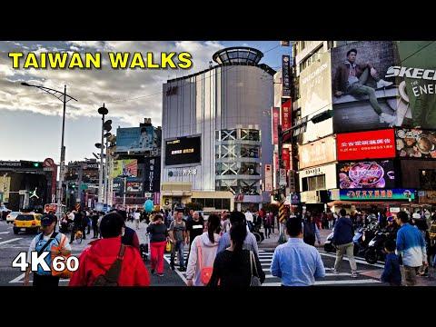 Walking Around Taipei - Taiwan's Capital City [4K60]