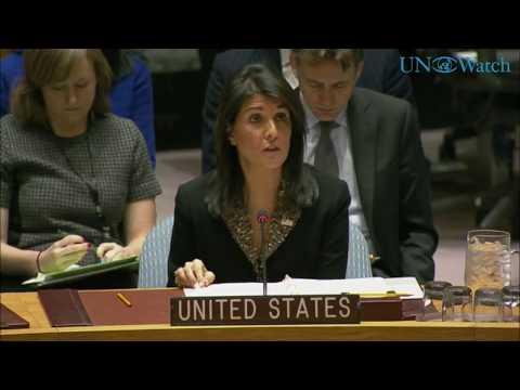 Nikki Haley UNSC Resolution 2334 Speech