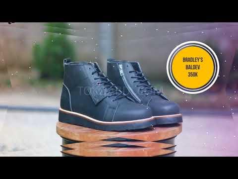 Sepatu boot Kulit Pria, kulit full up murah terbaru