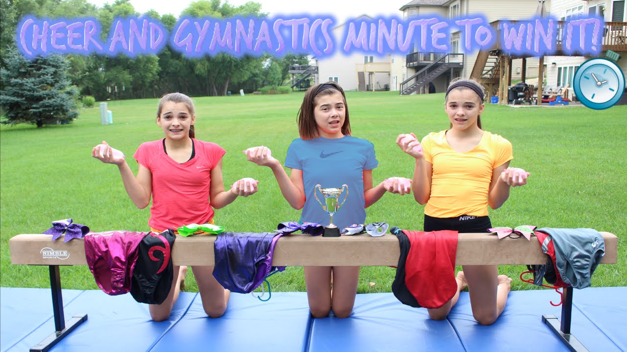 c201249e774 Cheer and Gymnastics Minute to Win It! - YouTube