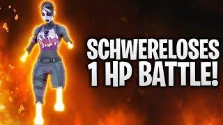 DAS SCHWERELOSE 1 HP BATTLE! 👩🚀 | Fortnite: Battle Royale