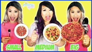 Big Medium Small Food Challenge! Pizza Challenge