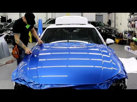 WRAP AN AUDI A4 S LINE HOOD | AVERY BRIALLIANT BLUE METALLIC