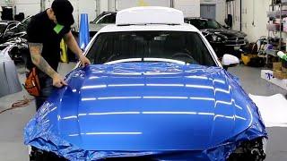 WRAP AN AUDI A4 S LINE HOOD | AVERY BRIALLIANT BLUE METALLIC thumbnail
