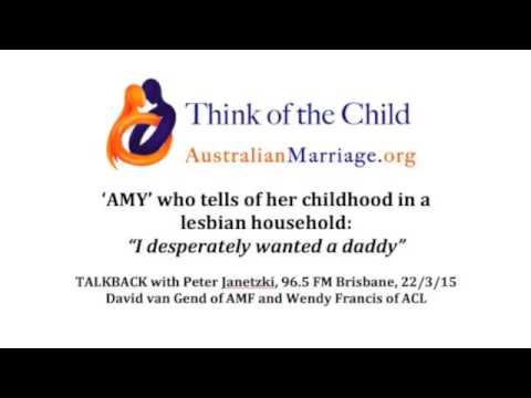 RADIO: 'Amy' re childhood in lesbian household. AMF 2015