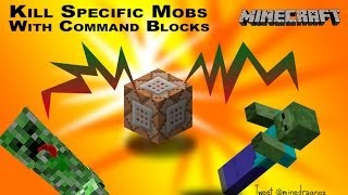 Kill specific mobs and entities with commandblocks in minecraft 1.8 thumbnail