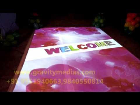 DIGITAL WEDDING 3D ENTRANCE INDIA CHENNAI -NEW CONCEPT - RENTAL FOR ALL EVENTS