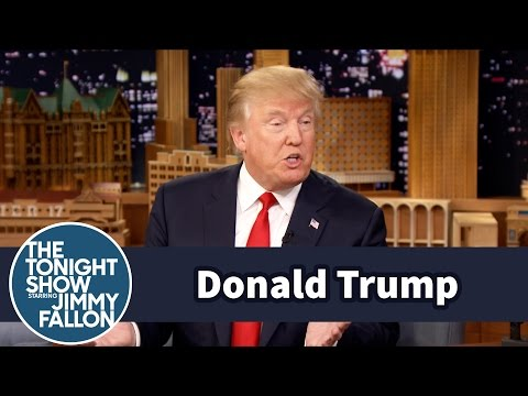 Jimmy Fallon and Donald Trump go off script on 'The Tonight Show'