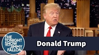 Donald Trump Talks Being the Front Runner of the GOP Presidential Race