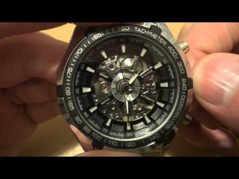 Winner Skeleton Sport Watch - китайские часы с сайта Aliexpress.com