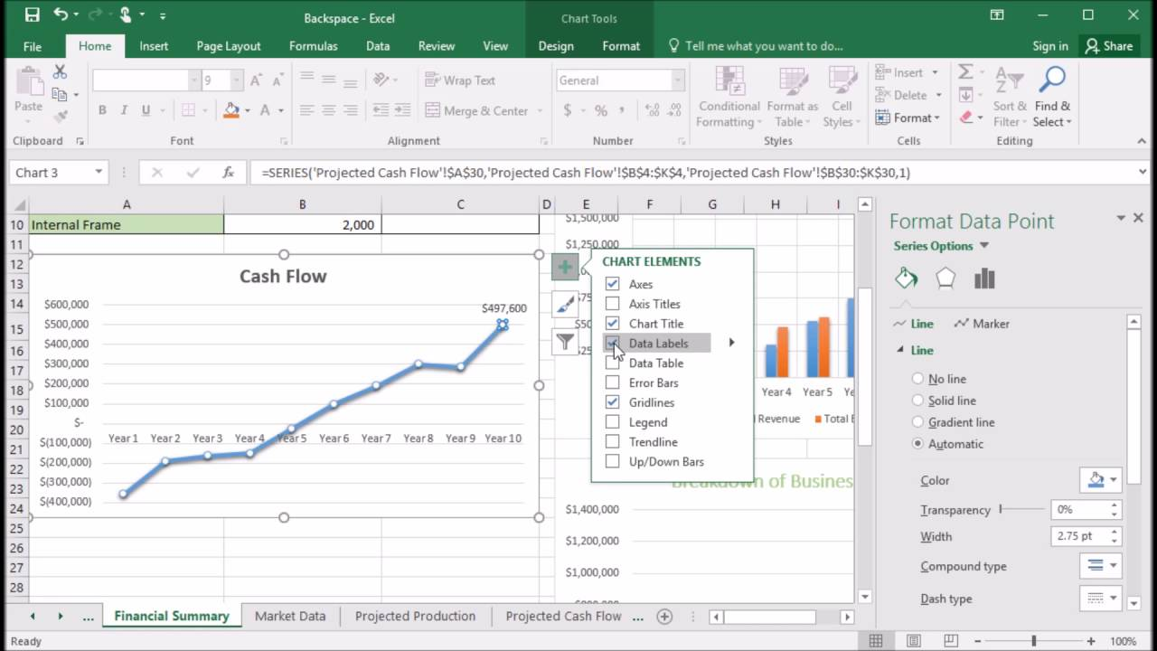 how to set labels in excel