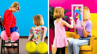 WHAT TO DO WITH YOUR KIDS AT HOME || Funny Ideas and Clever Parenting Hacks