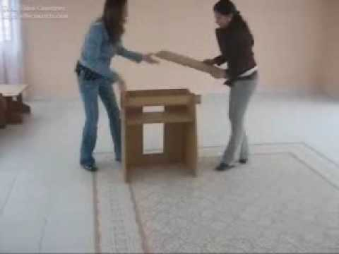 Muebles de cart n cardboard furniture ensamble - Muebles en carton ...