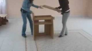 Muebles De Cartón - Cardboard Furniture - Ensamble Ecokraft