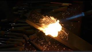 Газовая горелка, эксперименты, применение газовой горелки, #резьба_по_дереву