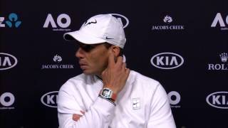 Rafael Nadal pre-tournament presser Australian Open 2017