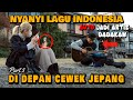 REAKSI CEWE JEPANG DENGER LAGU INDONESIA Part 3 // AUTO JADI ARTIS DADAKAN