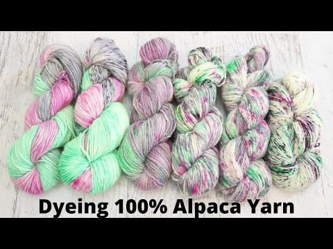 Dyepot PS #24 - Let's Dye Alpaca Yarn! Three Different Techniques