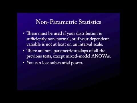 Intro. to Statistics for the Social Sciences - On Non-Parametric Statistics