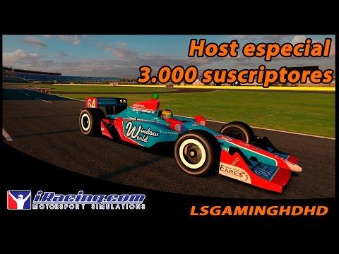 iRacing 16S3 - Host especial 3000 suscriptores - Indy Car Circa @ Charlotte Road