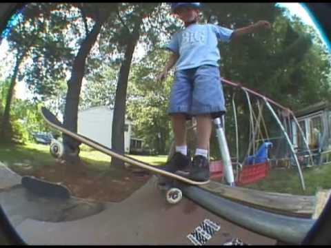 6 Years old Skateboarder Aaron Gamble