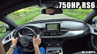 ONBOARD in a 750 HP Audi RS6 Avant C7 PP Performance