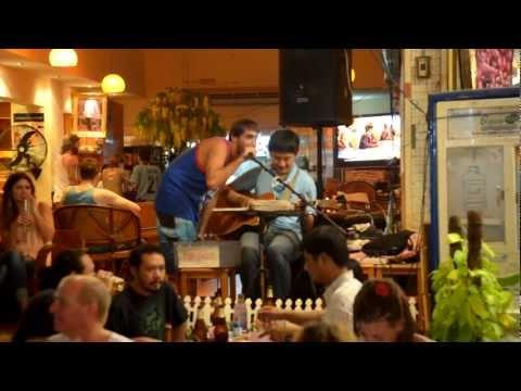 Karaoke on Khao San Rd;) Do you remember our karaoke in Riga?? ;))