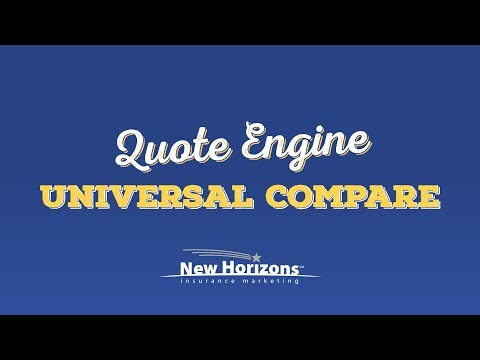 New Horizons Quote Engine - How to Use Universal Compare