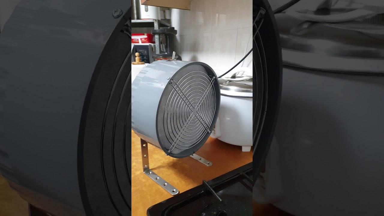 Portable kitchen exhaust fan - YouTube