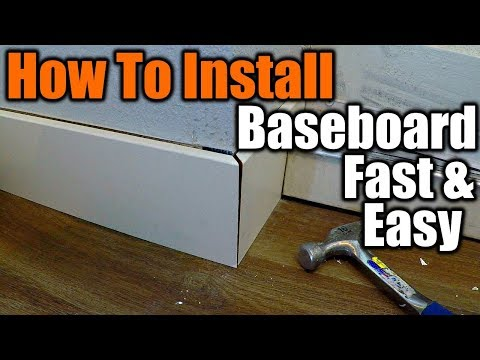 How To Install Baseboard The Easy Way   THE HANDYMAN  