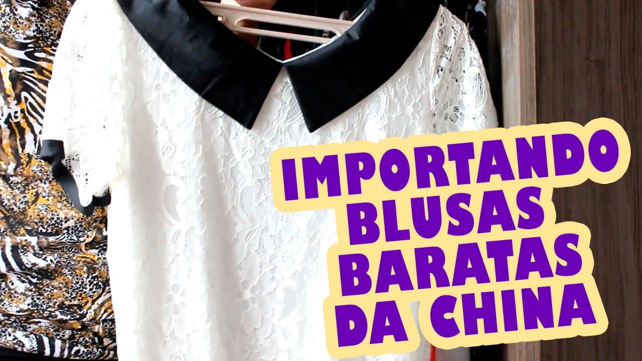 ca42dcd3d Comprar Blusas e Roupas Importadas da China Vale a Pena? Minhas Compras -  YouTube