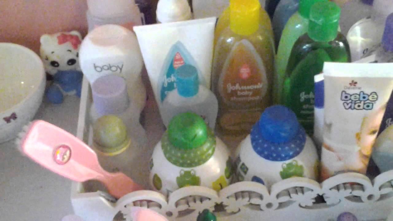 Cesta De Higiene Para Quarto De Bebe ~ Produtos de beb? kit higiene  YouTube