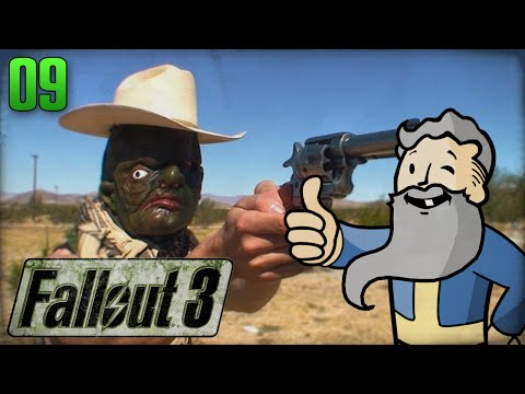 "Fallout 3 Gameplay Walkthrough Part 9 - ""COWBOY HAND CANNON!!!"" 1080p HD"