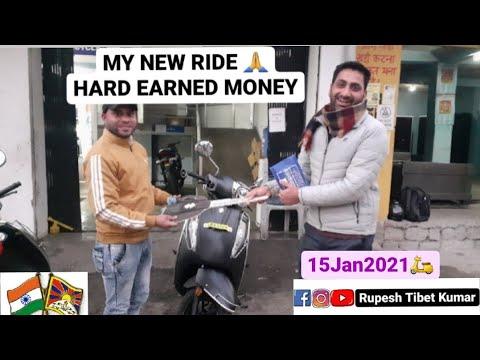 Brought New Scooty  Hard earn saving   Bhod Gyalo  Tibetan Vlogger   Jai Hind  