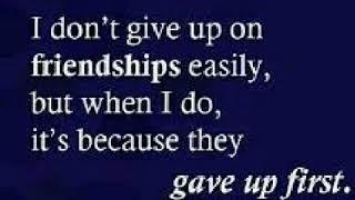 Friendship song break up with girl v/s girl