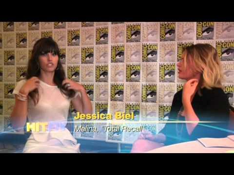 Comic Con 2012 Outtakes - Jessica Biel Shoe Talk
