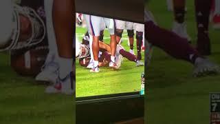 Mississippi State QB breaks leg vs Ole Miss on ESPN