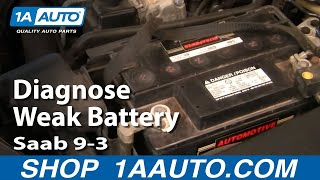 How a Weak Battery causes trouble in a Saab 9-3 Try to start and just hear 2 clicks