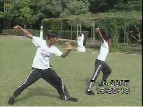 Kung-Fu practice by Manoj Kumbhar and Rekha Jagtap...