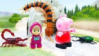 Мультики для детей с машинками и игрушками Битва за Машу Развивающие мультфильмы для малышей 2019