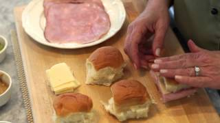 Ham & Swiss Cheese Sandwiches Baked In The Oven With Butter Sauce : Making Delicious Meals