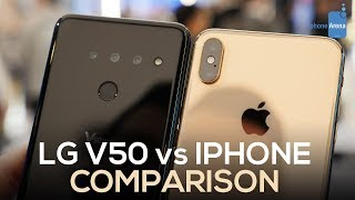 LG V50 vs iPhone XS Max: First Look Comparison