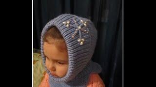 КАПОР ДЛЯ ДЕВОЧКИ! ВЯЗАНИЕ СПИЦАМИ! Вязание для начинающих. Дочка в тепле! Knitting.