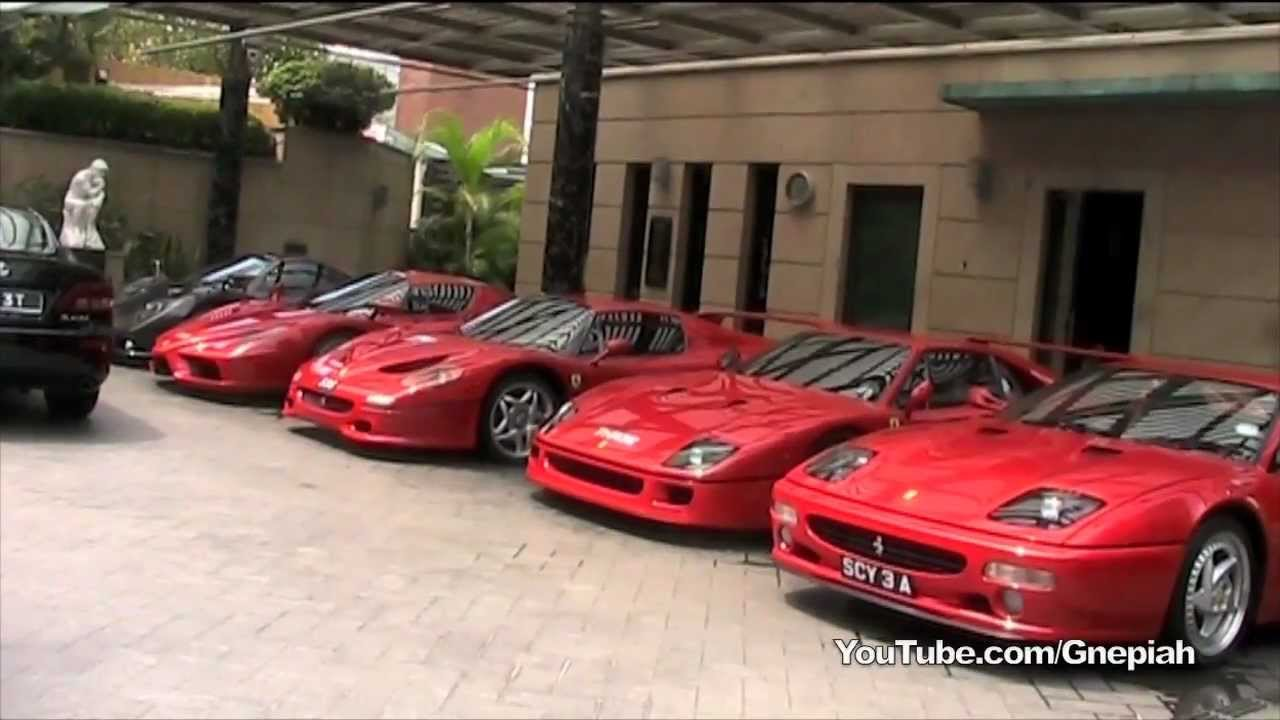 Awesome Exclusive Car Collection In Singapore! Zonda F, Enzo, F50 U0026 More!   YouTube